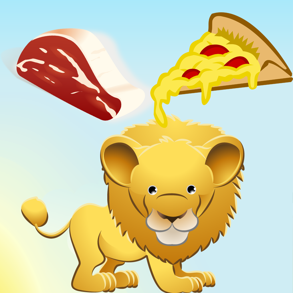 Feed the safari animals - Learning game for children
